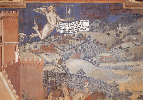 Buon,governo,Landschaft,Ambrogio,Lorenzetti