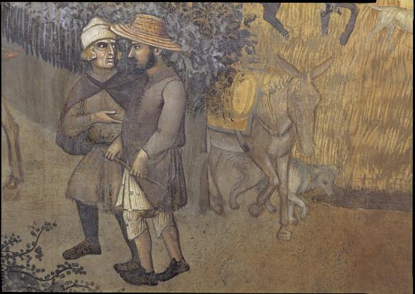 A.Lorenzetti, Buon governo, Bauern - A.Lorenzetti / Buon Governo, Peasants -