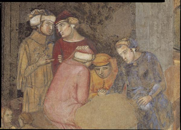 A.Lorenzetti, Buon governo, Maenner - A.Lorenzetti /Buon governo/ Fresco, Det. -