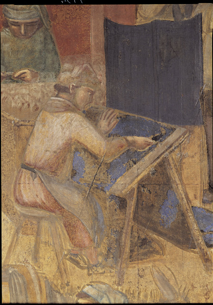 A.Lorenzetti, Buon governo, Tuchmacher - A.Lorenzetti /Buon governo, Clothmaker -