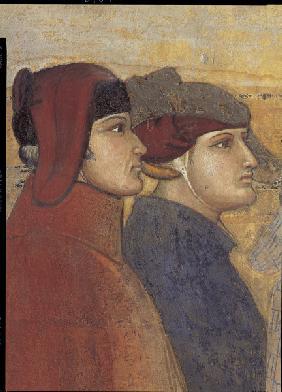 A.Lorenzetti, Rat der 24, Ausschnitt - A.Lorenzetti /Council of 24, Det.Fresco -