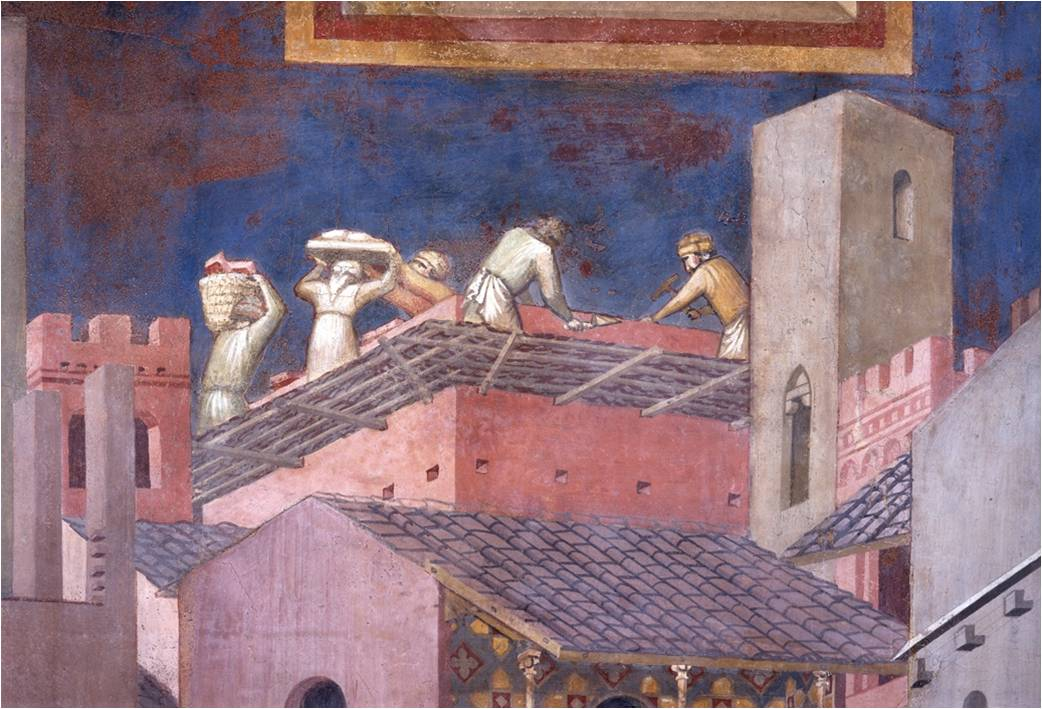 Effetto-del-Buon-Governo-i-muratori-lavorano-Ambrogio-Lorenzetti-Siena