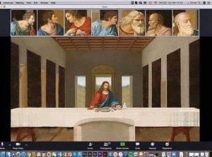 last supper on zoom - 1